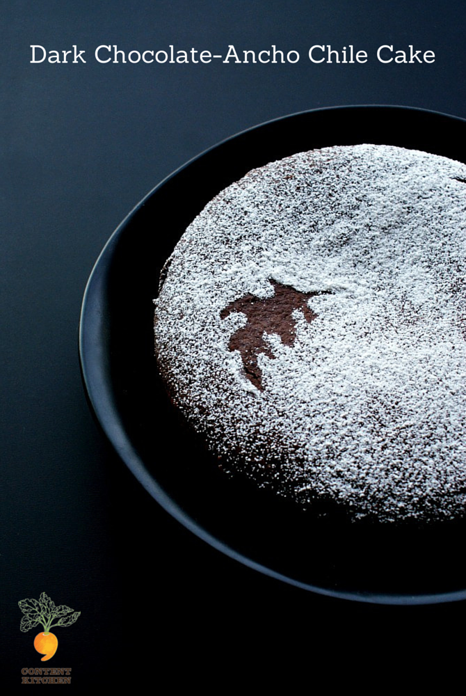 Dark Chocolate-Ancho Chile Cake