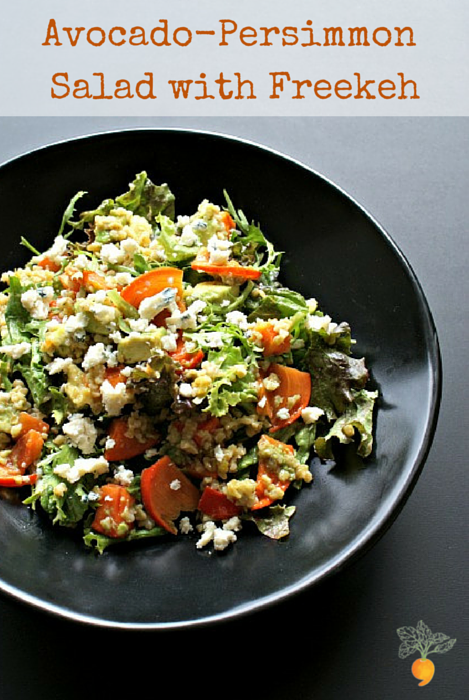 Avocado-Persimmon Salad with Freekeh