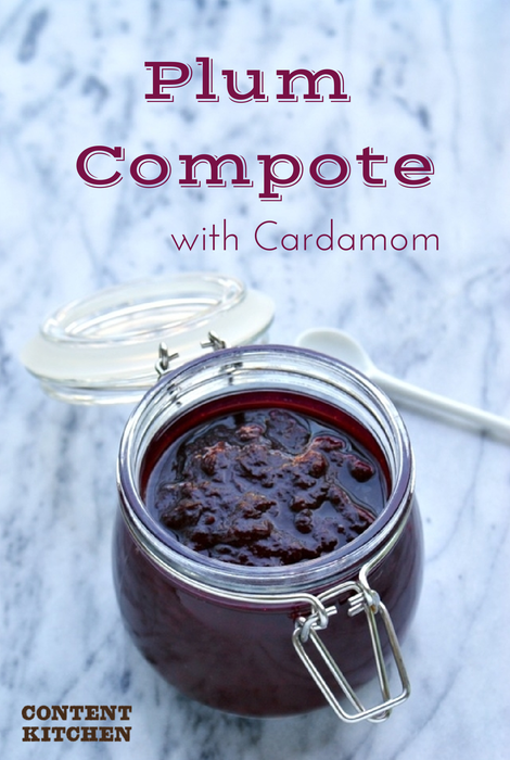 Plum Compote with Cardamom